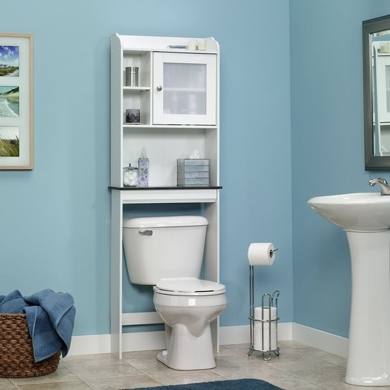 Over Toilet Storage With Cabinet